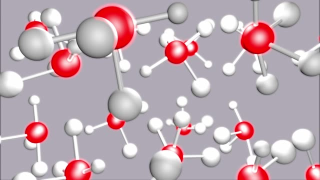 Moving Molecular Structure, Red and White Atom