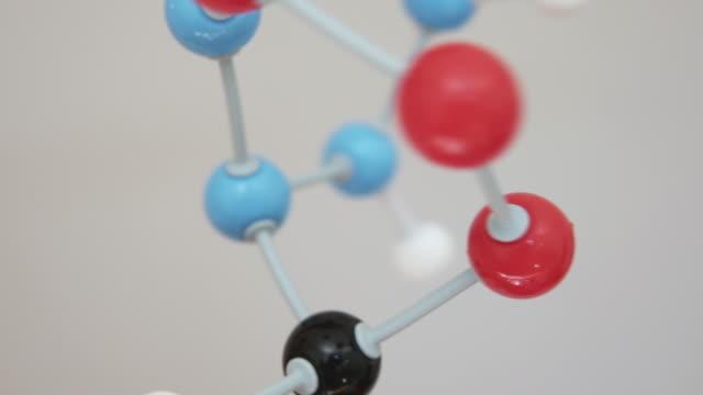 Moving molecule model.