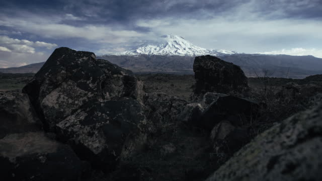 moving night time-lapse of mt. ararat in eastern anatolian in moon light with camping car. - land rover stock videos and b-roll footage