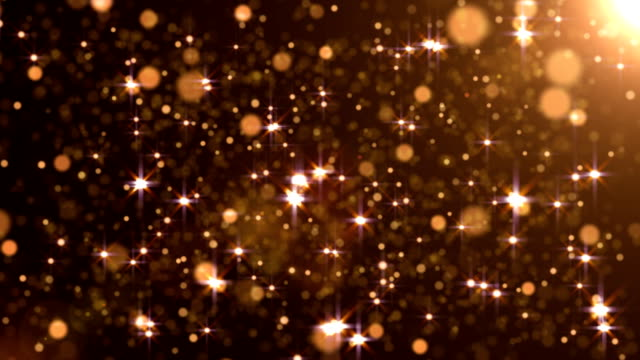 bewegende partikel loop - abstrakte gelb hinterlegt - beschädigungseffekt stock-videos und b-roll-filmmaterial