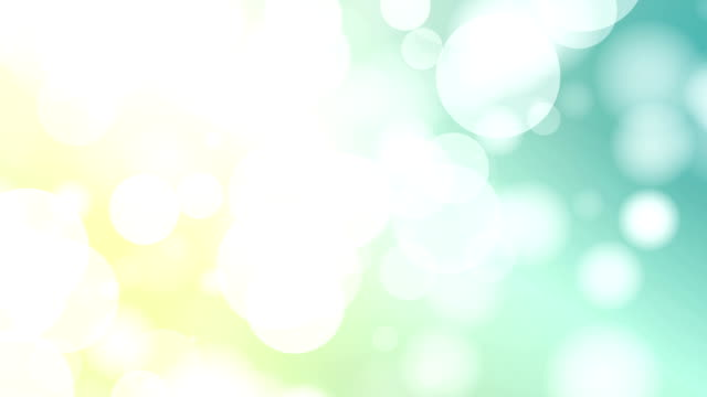 Moving Particles Loop - Bluegreen Particle Motion Background