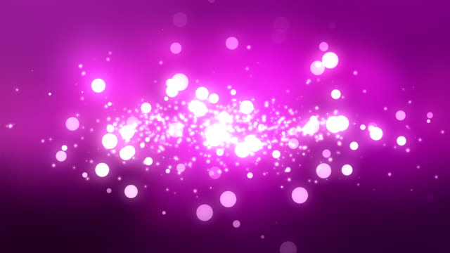 Moving Particles Loop - Purple Shiny Bokeh Background