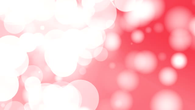 Moving Particles Loop - Red Particle Motion Background