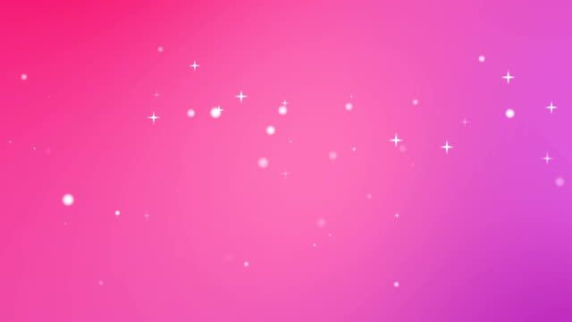 Moving Particles Loop - Star Pink Motion Background