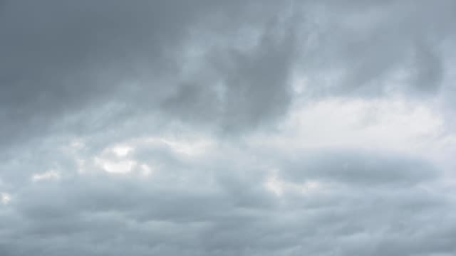 moving rain cloudy with overcast sky - cloudscape stock videos & royalty-free footage