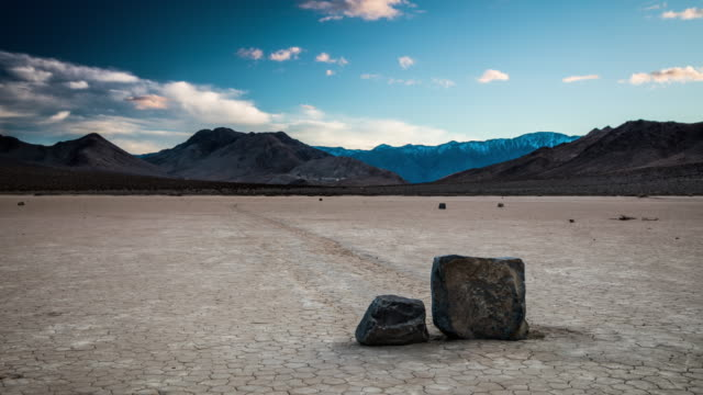 time lapse: moving rocks at death valley - death valley national park stock videos & royalty-free footage