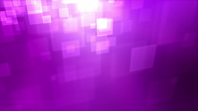 Moving Square Particles Loop - Pink/Purple