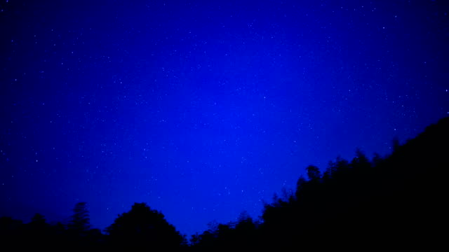 Moving starry sky in summer 4K Time Lapse Video