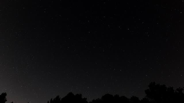 moving stars in night sky, timelapse - 北極星点の映像素材/bロール
