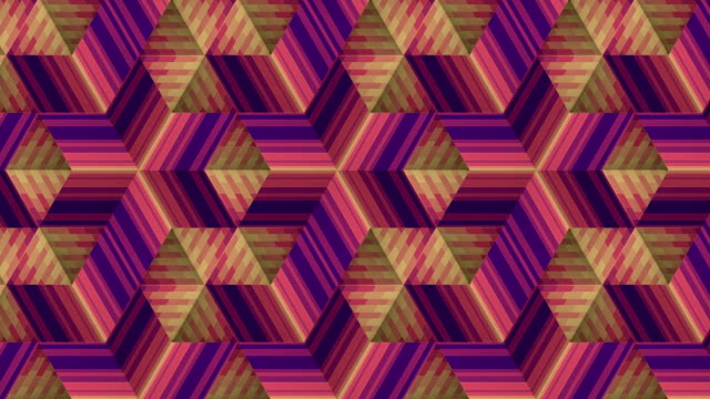 ストライプパターンを移動する。線画アニメーションの背景。3d レンダリングシームレスなループ パターンの背景。4k、uhd - 投影図点の映像素材/bロール