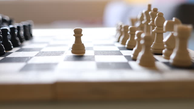 moving the pawn on the chess board - dia stock videos & royalty-free footage