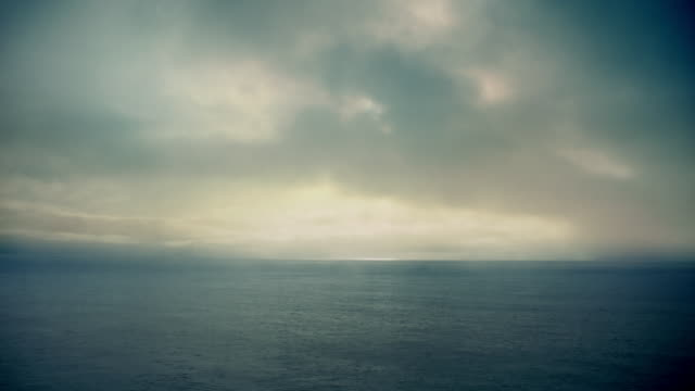 pov moving through misty seascape - seascape stock videos & royalty-free footage