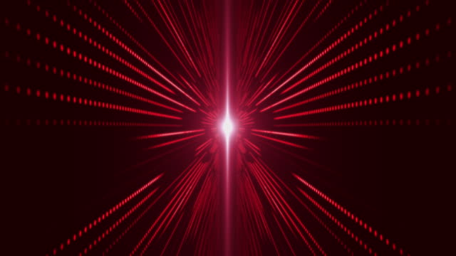vídeos de stock, filmes e b-roll de movendo-se através do servidor de data center abstrato vermelho com padrão de grade led - part of a series
