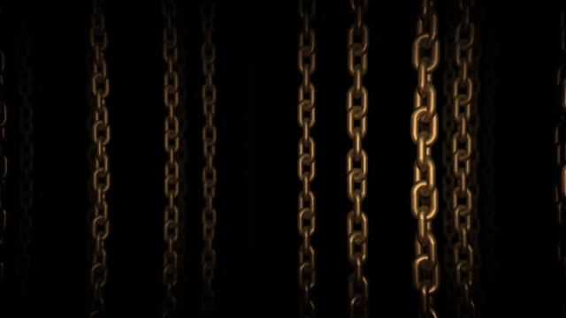 moving through the chains (loopable, hd) - chain stock videos & royalty-free footage