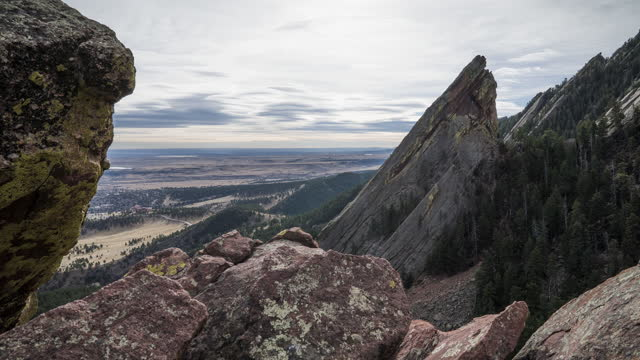 moving timelapse in the flatirons in boulder, co - boulder stock videos & royalty-free footage
