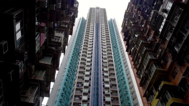 moving towards shot in the yik fat housing project, hong kong island, hong kong - contrasts stock videos & royalty-free footage