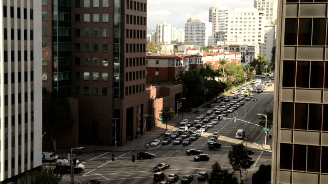 moving traffic - westwood neighborhood los angeles stock videos & royalty-free footage