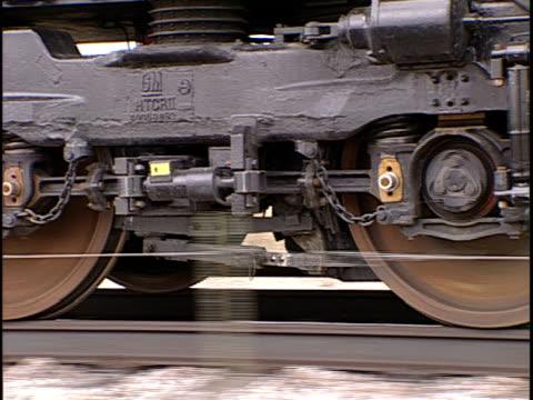cu, moving train wheels, pueblo, colorado, usa, - pueblo colorado stock videos & royalty-free footage