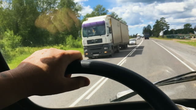 Image result for semi truck view from driver perspective