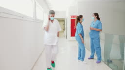 Moving video of hospital corridor during pandemic
