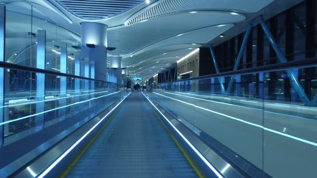 moving walkways in airport - istanbul stock videos & royalty-free footage