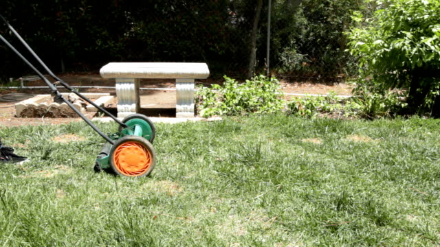 mowing lawn - lawn mower stock videos and b-roll footage