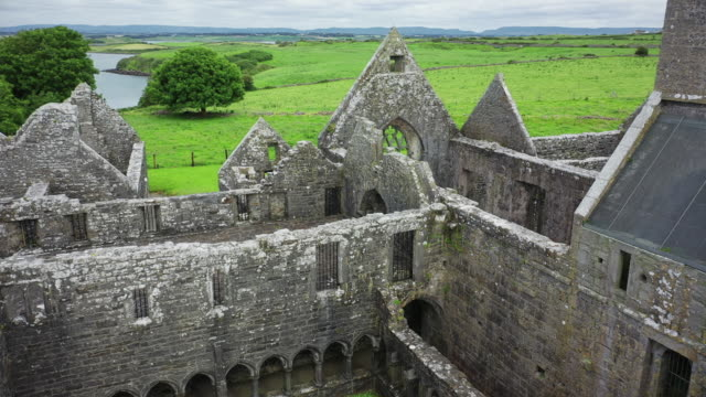 moyne abbey - old ruin stock videos & royalty-free footage