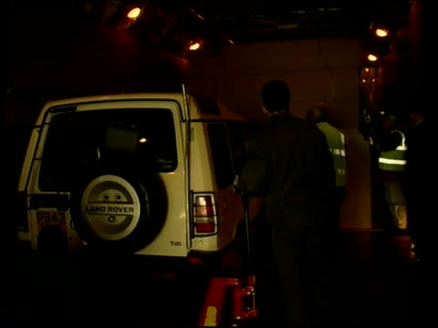 stockvideo's en b-roll-footage met humanitarian aid itn england kent cargo plane with bay doors open ms jeep along past into cargo plane int plane ms jeep towards past into plane as... - martin luther: his life and time