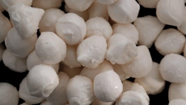 mozarella cheese balls in the air - mozzarella stock videos & royalty-free footage