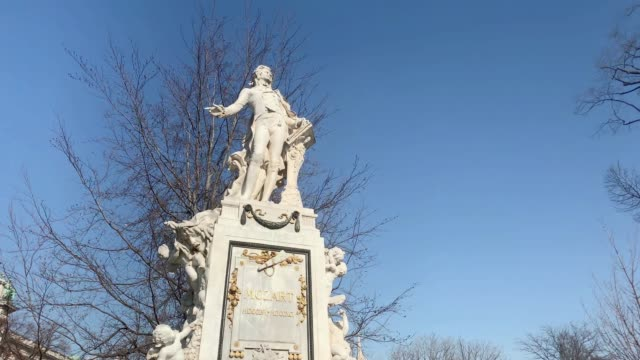 mozart monument, vienna - monument stock videos & royalty-free footage
