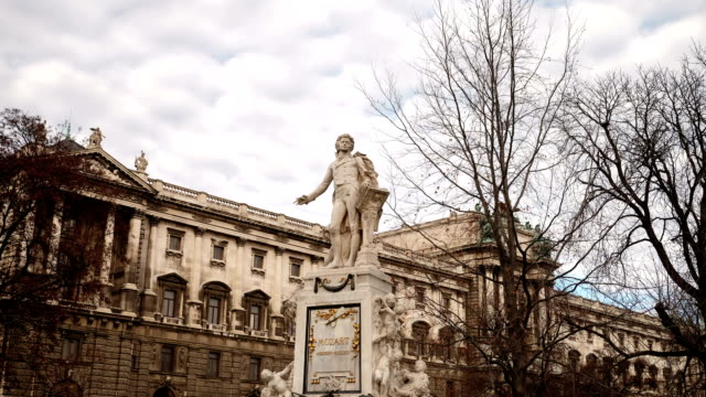 mozart statue vienna - time lapse - the hofburg complex stock videos & royalty-free footage