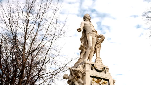 mozart statue vienna - time lapse - composer stock videos & royalty-free footage