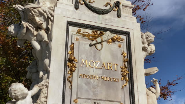 mozart statue vienna - traditionally austrian stock videos & royalty-free footage