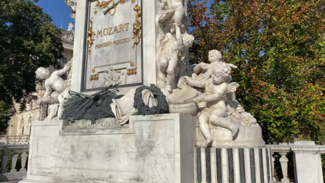 mozart statue vienna - composer stock videos & royalty-free footage