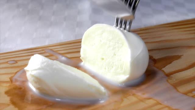 mozzarella in the kitchen - mozzarella stock videos & royalty-free footage