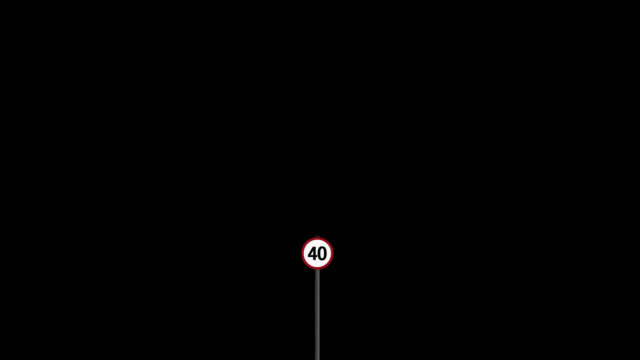 40 mph UK speed limit road sign