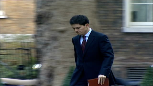 MPs arrive for special 'Trident' cabinet meeting David Miliband MP along and into number 10 PAN