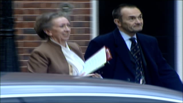 MPs arrive for special 'Trident' cabinet meeting Margaret Beckett MP along with another unidentified man into number 10