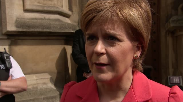 mps arrive in london; england: london: westminster: houses of parliament: ext scottish saltire flying outside parliament nicola sturgeon msp along... - scottish flag stock videos & royalty-free footage