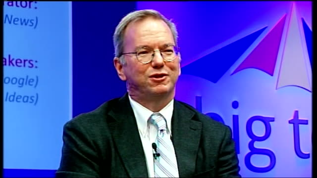 MPs criticise Google for 'failing to pay fair share of tax' Grove Hotel INT Eric Schmidt speaking SOT I did not design such an irrational structure