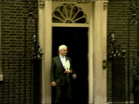 mps depart number ten downing street after cabinet meeting alistair darling mp out of number 10 and along - alistair darling stock videos & royalty-free footage