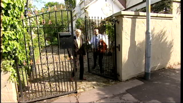 second labour mp suspended over expenses claim; london: regent's park: ext various shots of gerald kaufman's home seen beyond gate palings sir gerald... - gerald kaufman stock videos & royalty-free footage