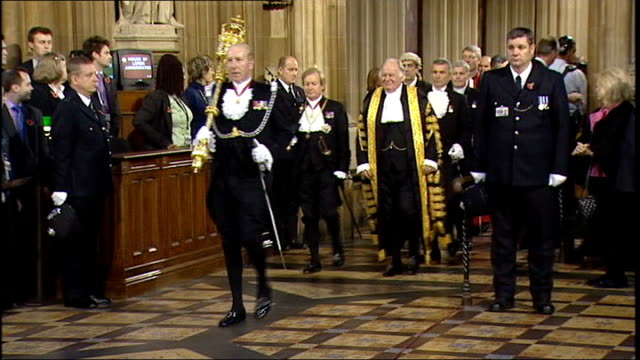 mps' expenses row speaker michael martin clings on to his job lib london house of commons int michael martin along at state opening of parliament - house of commons stock videos and b-roll footage
