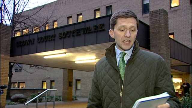 mps' expenses scandal jim devine trial reporter to camera - parlamentsmitglied stock-videos und b-roll-filmmaterial