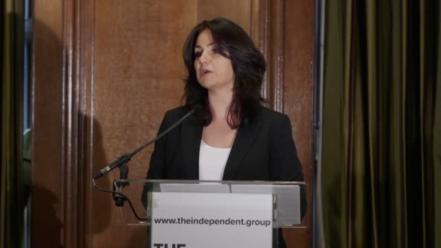 mps heidi allen and sarah wollaston speak at a press conference following the announcement that they have resigned from the conservative party and... - heidi allen stock videos & royalty-free footage
