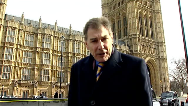 mps support speaker michael martin in house of commons westminster ext reporter to camera - house of commons stock videos and b-roll footage