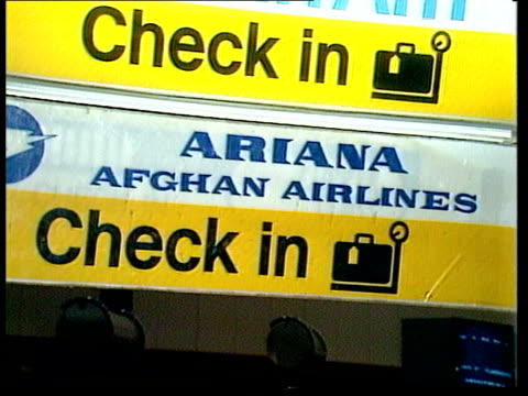 London Airport MPs CMS 'Ariana' Airline PULL BACK BV Put bags in check in CS MP PAN another PULL
