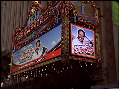 mr 3000 premiere at the 'mr 3000' premiere at the el capitan theatre in hollywood, california on september 8, 2004. - el capitan theatre stock videos & royalty-free footage