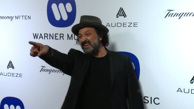 Mr Brainwash at Warner Music Group Grammy After Party 2016 in Los Angeles CA