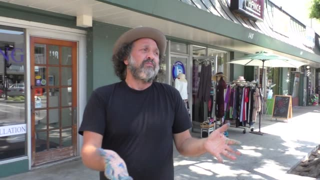INTERVIEW – Mr Brainwash talks about Jerry Lewis passing while shopping in Beverly Hills in Celebrity Sightings in Los Angeles